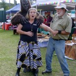 Yowie attacks Kyogle Mayor Danielle Mulholland at 6th Birthday Celebrations